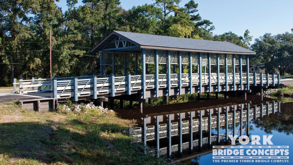 Plantation at Winyah Bay Covered Vehicular Bridge – Georgetown, SC | York Bridge Concepts - Timber Bridge Builders