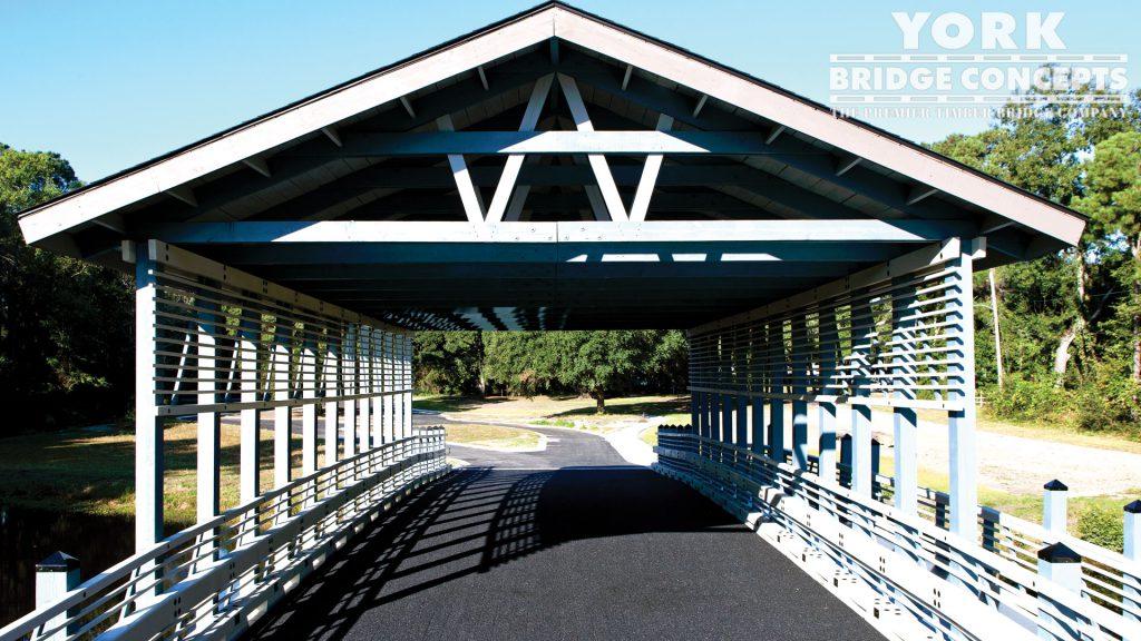 Plantation at Winyah Bay Covered Vehicular Bridge – Georgetown, SC | York Bridge Concepts - Timber Bridge Builders