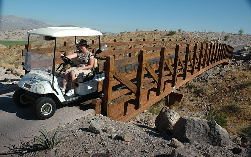 Laughlin Ranch Vehicular & Golf Cart Bridges - Bullhead City, AZ | York Bridge Concepts - Timber Bridge Builders