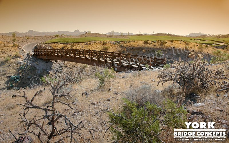 Laughlin Ranch Vehicular & Golf Cart Bridges - Bullhead City, AZ | York Bridge Concepts - Timber Bridge Builders