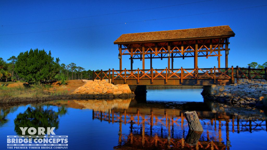 Princess Place Preserve Covered Bridge - Palm Coast, FL | York Bridge Concepts - Timber Bridge Builders