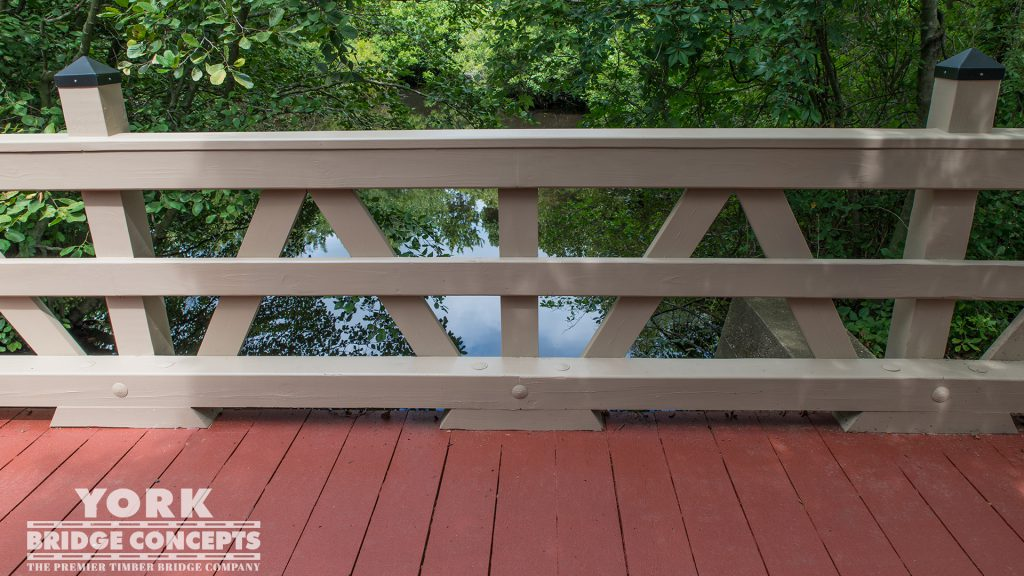 Islip High School Pedestrian Bridge – Islip, NY | York Bridge Concepts -Timber Bridge Builders