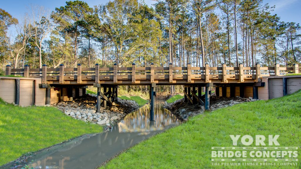 Church of the King Vehicular Bridge – Mandeville, LA | York Bridge Concepts - Timber Bridge Builders