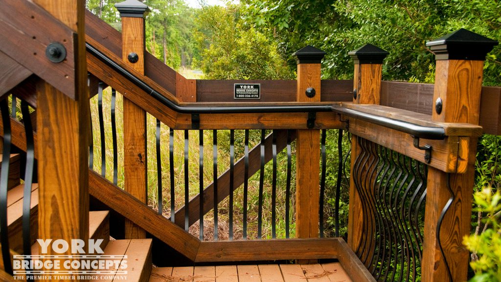 Sanctuary at Hampton Lake Pedestrian Bridge – Bluffton, SC | York Bridge Concepts - Timber Bridge Builders