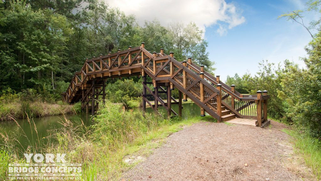 Sanctuary at Hampton Lake Pedestrian Bridge – Bluffton, SC | York Bridge Concepts - Timber Bridge Builders