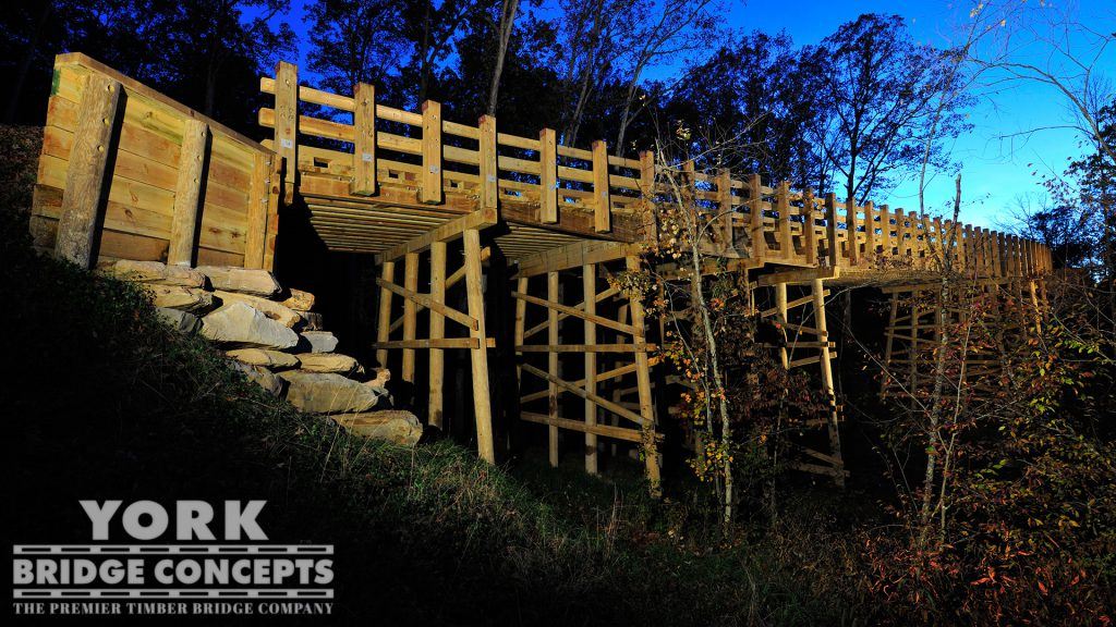 Summit Bechtel Reserve Vehicular Bridge – Glen Jean, WV | York Bridge Concepts - Timber Bridge Builders