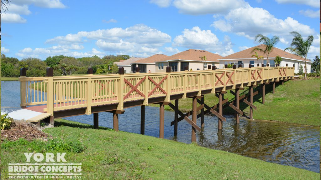Copperstone Pedestrian Bridge – Parrish, FL | York Bridge Concepts -Timber Bridge Builders
