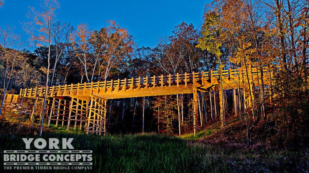 Summit Bechtel Reserve Vehicular Bridge – Glen Jean, WV | York Bridge Concepts - Timber Bridge Builders