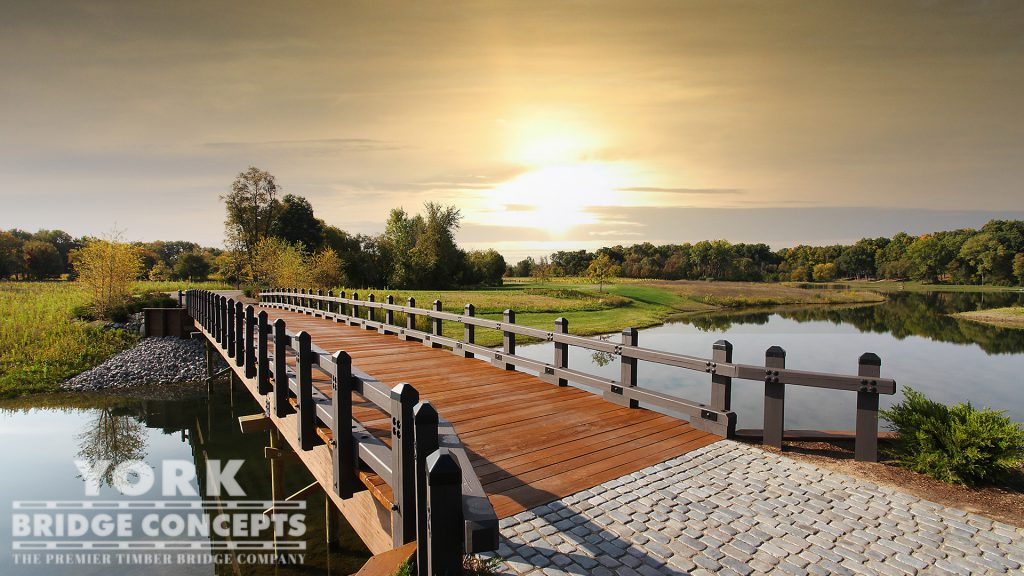 Bearden Residence Timber Driveway Bridge – Howell, MI | York Bridge Concepts - Timber Bridge Builders