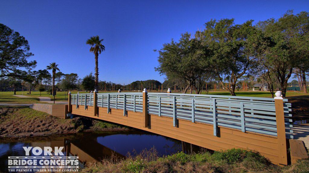 Atlantic Beach Country Club Pedestrian Bridge - Jacksonville, FL | York Bridge Concepts - Timber Bridge Builders