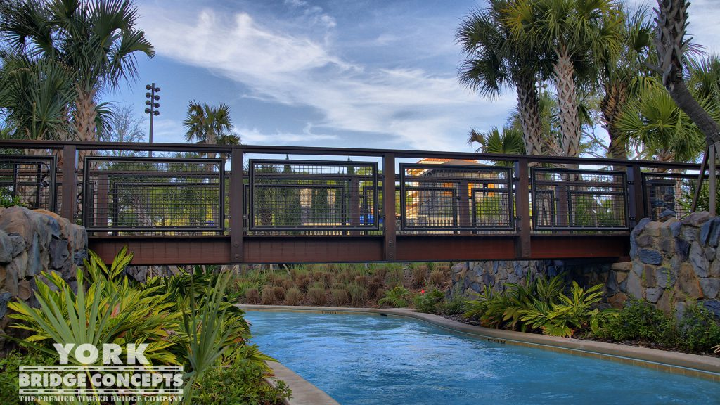 Four Seasons Resort Pedestrian Bridge | York Bridge Concepts - Timber Bridge Builders