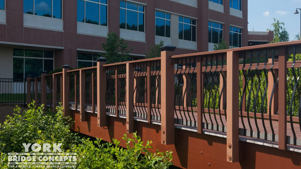 Northside Medical Office Building Pedestrian Bridge – Woodstock, GA | York Bridge Concepts -Timber Bridge Builders