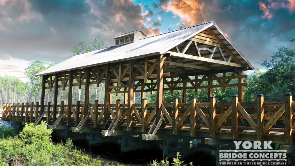 Woodlands Park Vehicular Bridge – Southport, NC | York Bridge Concepts -Timber Bridge Builders