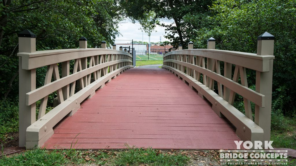 Islip High School Pedestrian Bridge – Islip, NY | York Bridge Concepts -Timber Bridge Builders