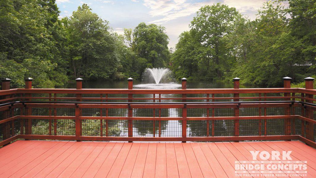 Perkins School for the Blind Pedestrian Bridge – Watertown, MA | York Bridge Concepts - Timber Bridge Builders