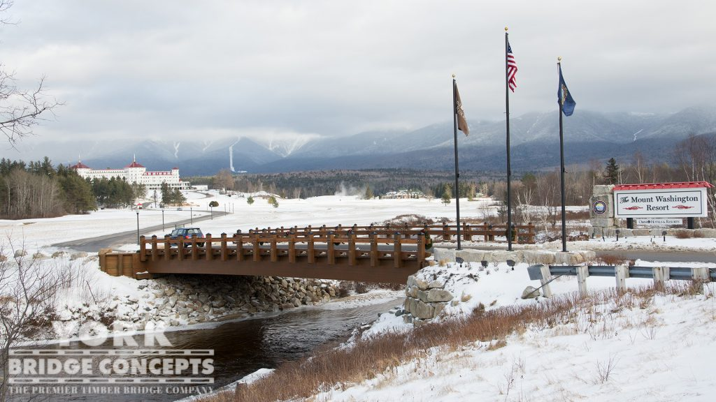 Mt. Washington Resort Vehicular Bridge – Bretton Woods, NH | York Bridge Concepts - Timber Bridge Builders