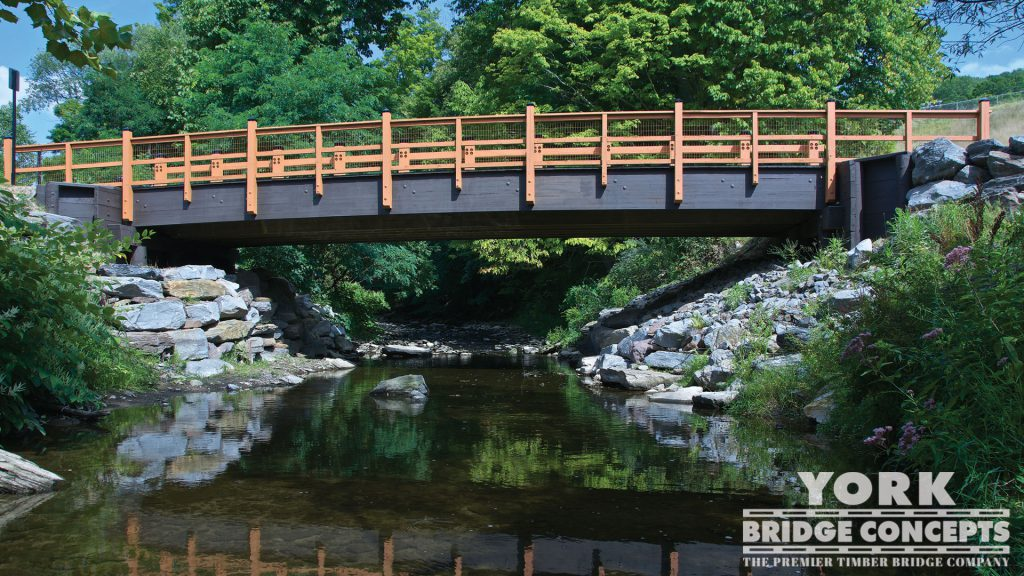 Keystone College Vehicular Bridge – La Plume, PA | York Bridge Concepts - Timber Bridge Builders