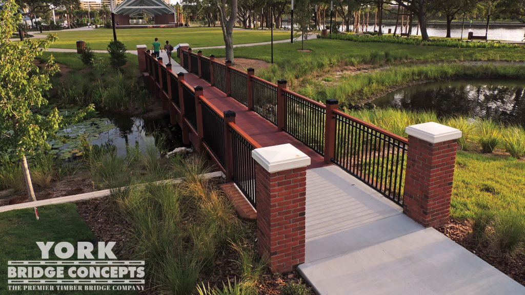 Water Works Park Pedestrian Bridges – Tampa, FL | York Bridge Concepts - Timber Bridge Builders