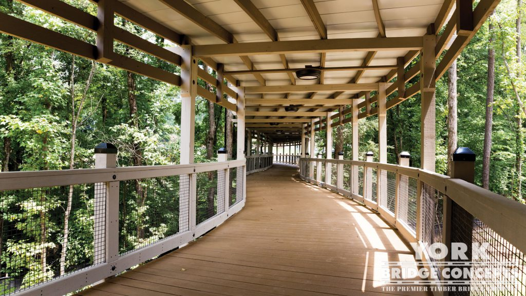 WellStar East Cobb Pedestrian Bridge – Marietta, GA | York Bridge Concepts - Timber Bridge Builders
