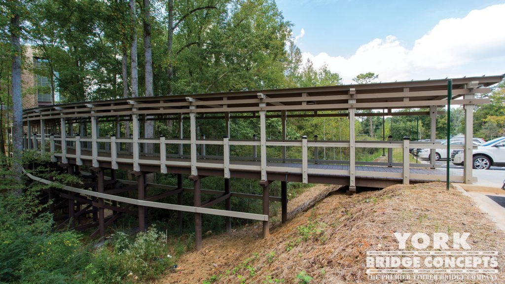 WellStar East Cobb Pedestrian Bridge – Marietta, GA | York Bridge Concepts - Timber Bridge Builders