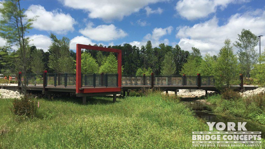 Starkey Ranch Pedestrian Bridges – Odessa, FL | York Bridge Concepts - Timber Bridge Builders