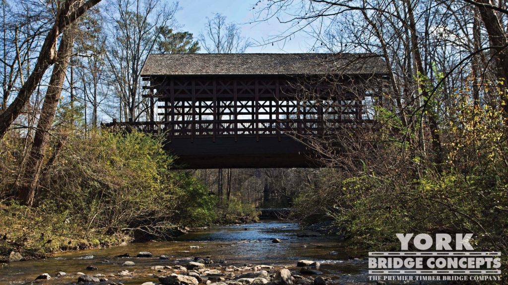 Woodbridge Crossing Covered Bridge – Smyrna, GA | York Bridge Concepts -Timber Bridge Builders