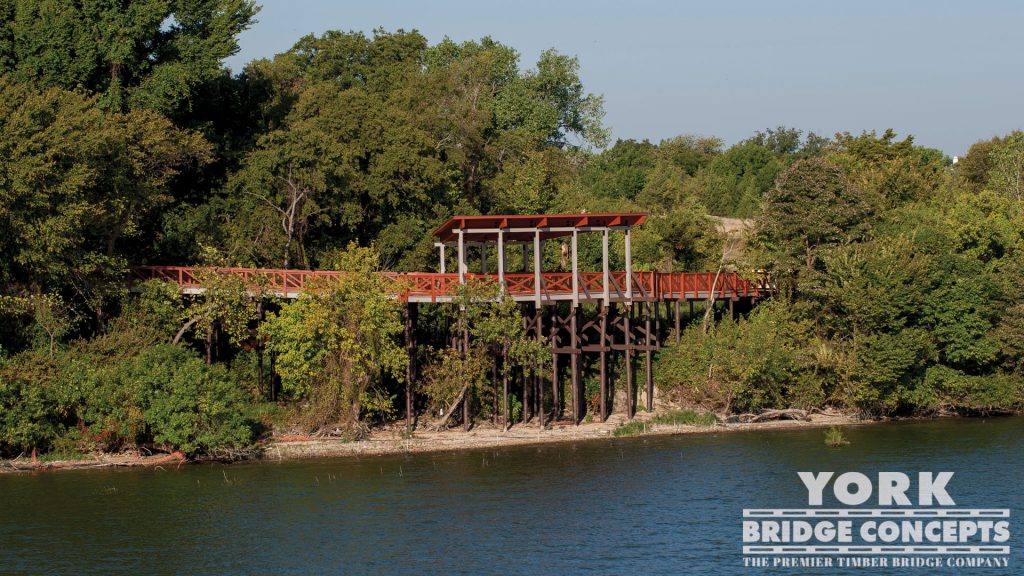 Scenic Point Park Covered Boardwalk – Rowlett, TX | York Bridge Concepts - Timber Bridge Builders