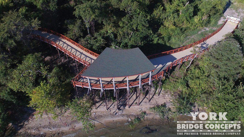 Scenic Point Park Covered Boardwalk – Rowlett, TX | York Bridge Concepts - Timber Bridge Builders