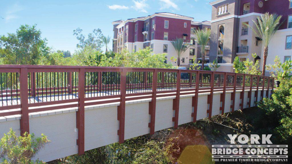 Adagio on the Green Apartments Pedestrian Bridge – Mission Viejo, CA | York Bridge Concepts - Timber Bridge Builders