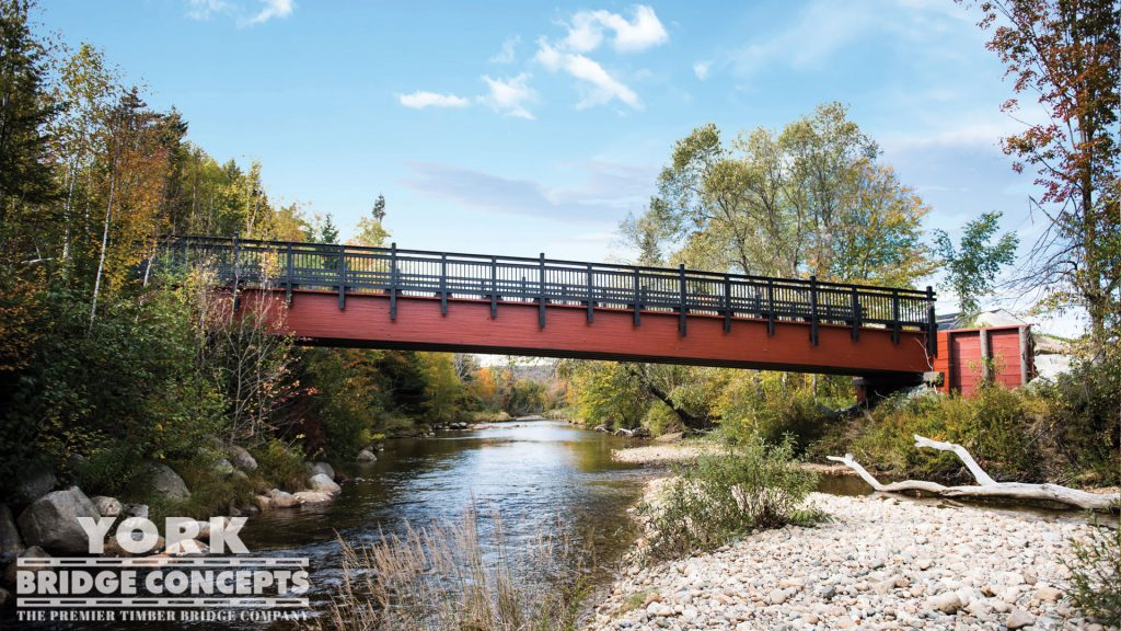 Bretton Woods Pedestrian Bridge - Bretton Woods, NH | York Bridge Concepts - Timber Bridge Builders