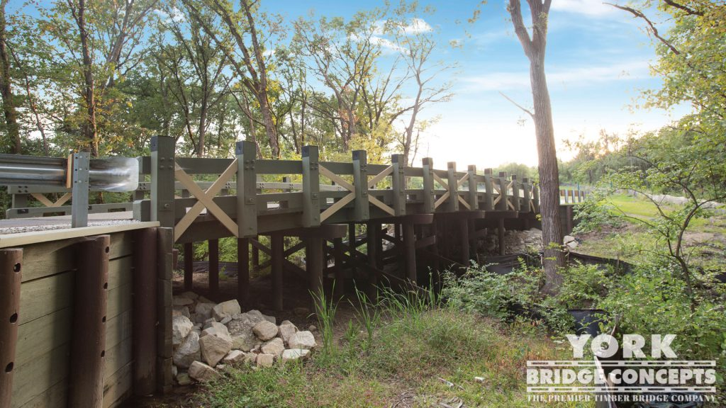 Camp Bullfrog Vehicular Bridge – Willow Springs, IL | York Bridge Concepts - Timber Bridge Builders