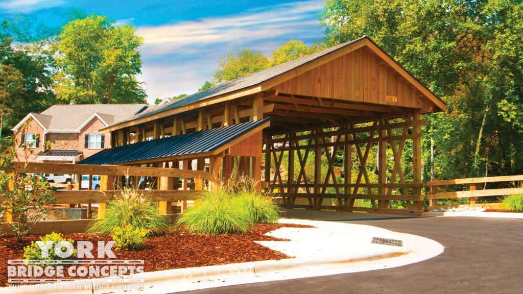 Deacon's Station Covered Vehicular Bridge – Winston Salem, NC | York Bridge Concepts - Timber Bridge Builders