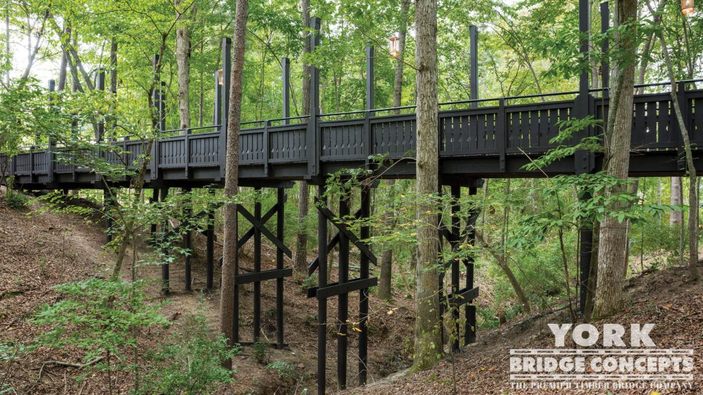 Serenbe Swann Ridge Pedestrian Bridge – Chattahoochee Hills, GA | York Bridge Concepts - Timber Bridge Builders