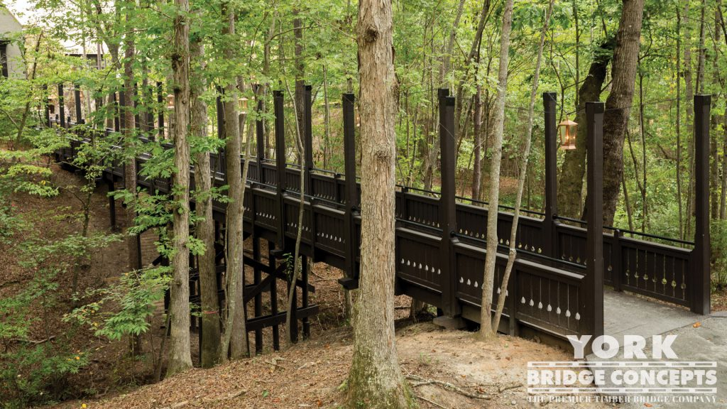Serenbe Swann Ridge Pedestrian Bridge – Chattahoochee Hills, GA | York Bridge Concepts - Timber Bridge Builders