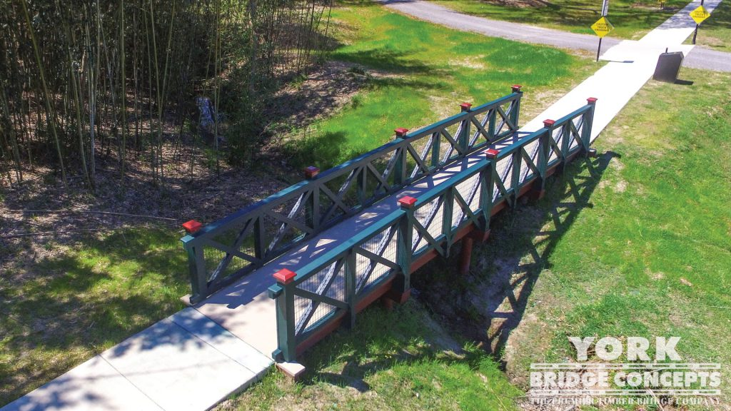 Tabasco Visitor Center Pedestrian Bridge – Avery Island, LA | York Bridge Concepts - Timber Bridge Builders