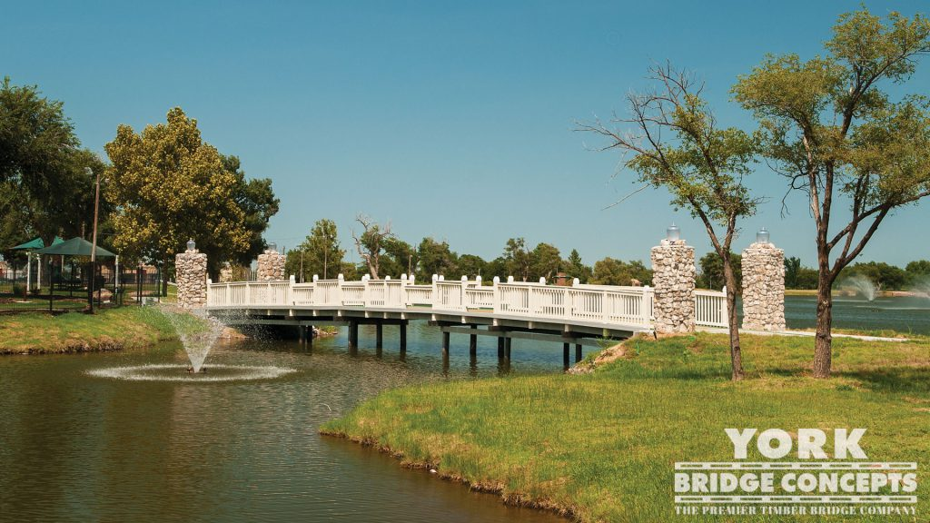 Crystal Beach Park Pedestrian Bridge – Woodward, OK | York Bridge Concepts - Timber Bridge Builders