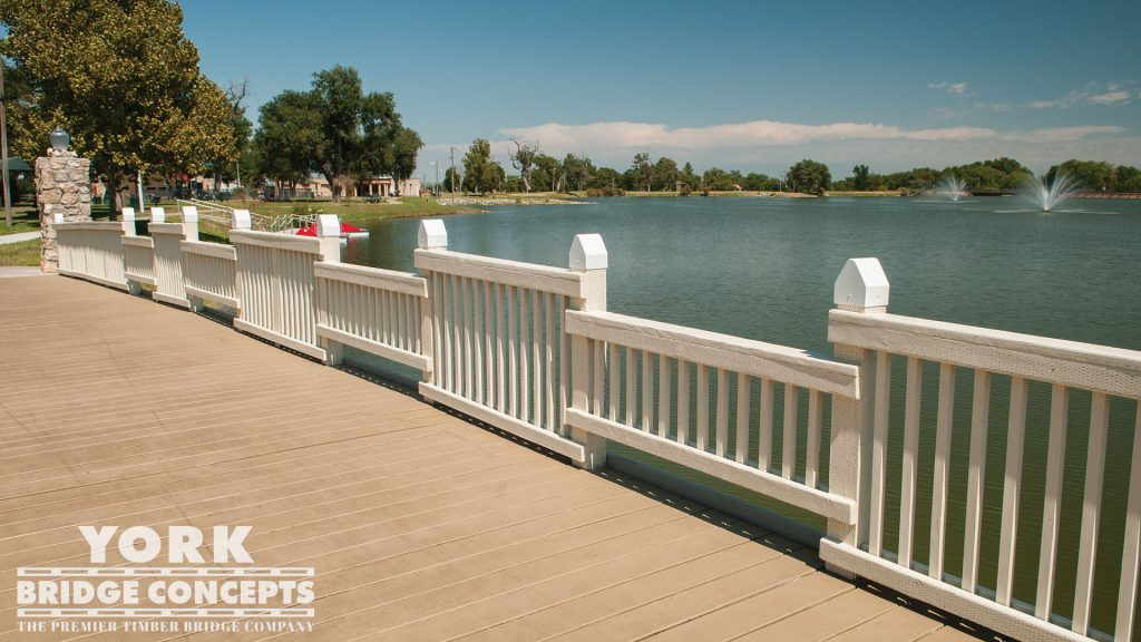 Crystal Beach Park Pedestrian Bridge – Woodward, OK | York Bridge Concepts - Timber Bridge Builders