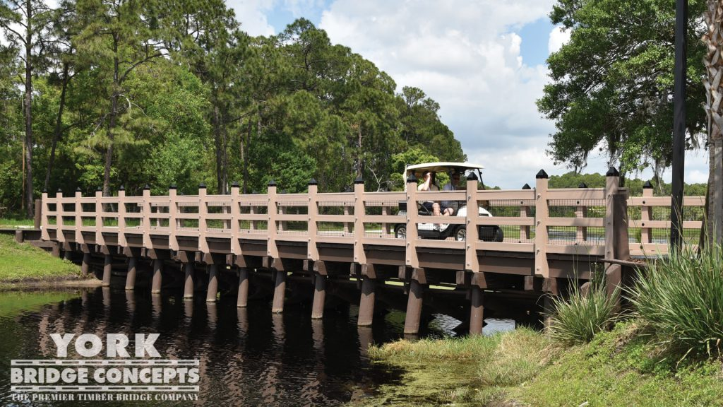 Tranquilo Golf Club at the Four Seasons Golf Cart Bridge – Lake Buena Vista, FL | York Bridge Concepts - Timber Bridge Builders
