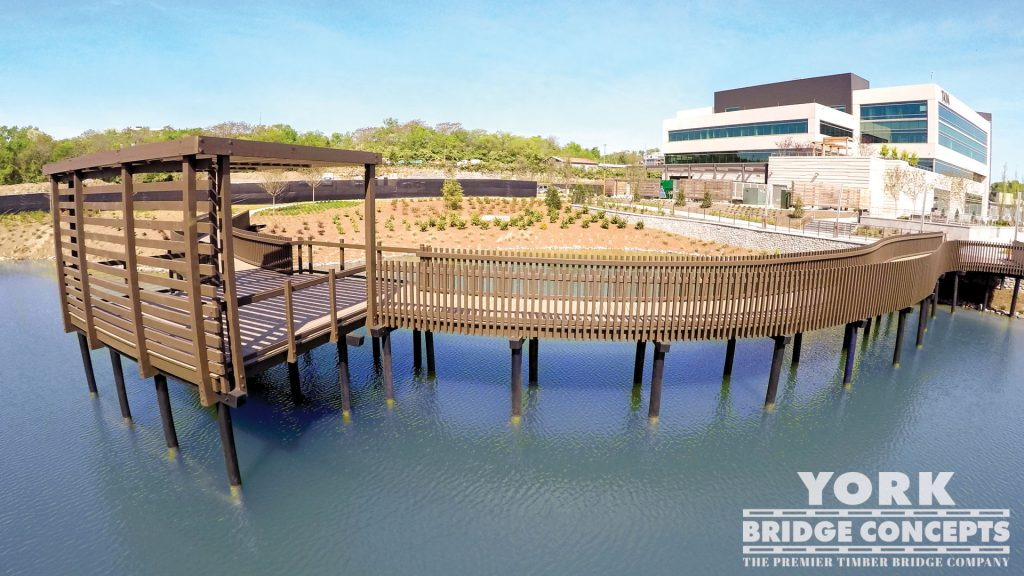 OneC1TY Timber Boardwalk - Nashville, TN | York Bridge Concepts - Timber Bridge Builders