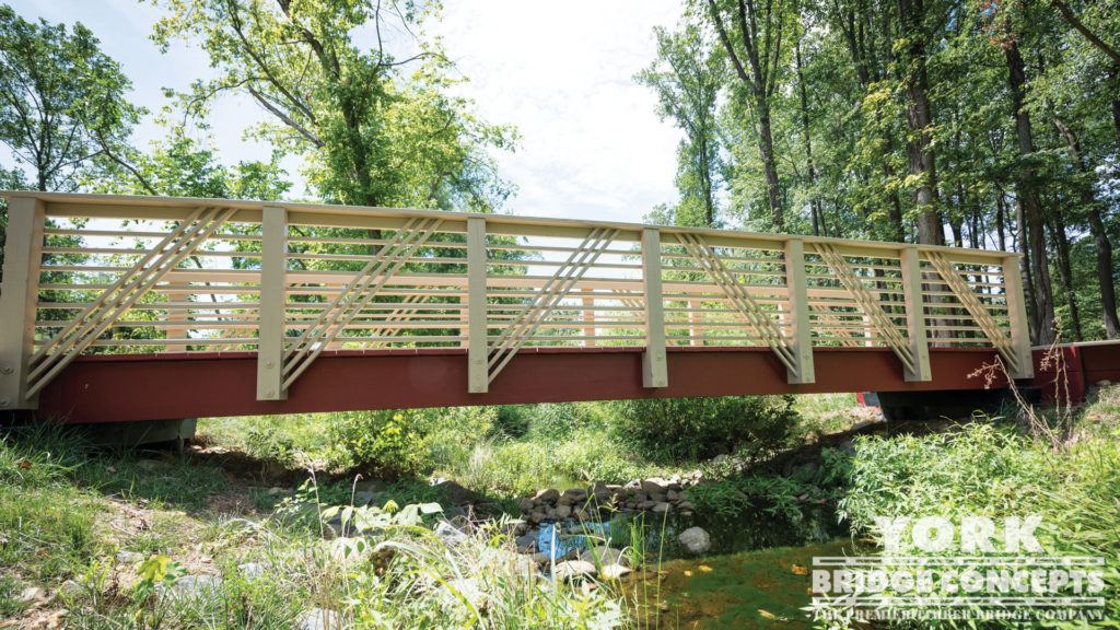 Coe Branch Pedestrian Bridge - Falls Church, VA | York Bridge Concepts - Timber Bridge Builders