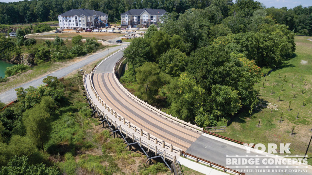 Delight Quarry Vehicular Bridge - Reisterstown, MD | York Bridge Concepts - Timber Bridge Builders