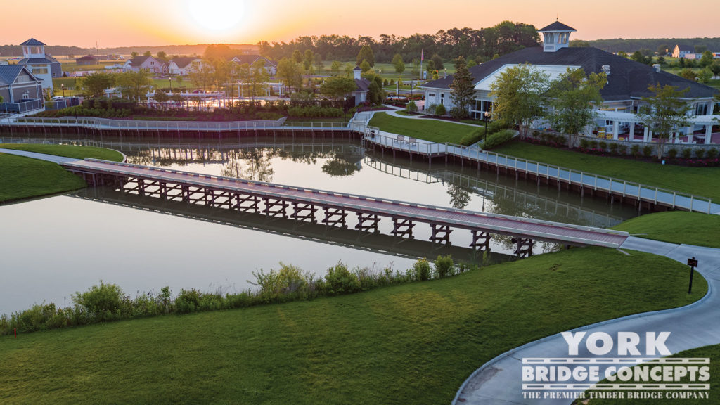 Heritage Shores Golf Cart Bridge & Boardwalk - Bridgeville, DE | York Bridge Concepts - Timber Bridge Builders