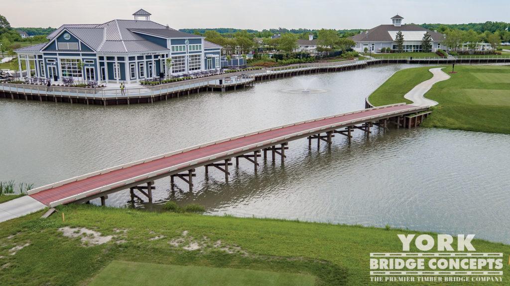 Heritage Shores Golf Cart Bridge & Boardwalk - Bridgeville, DE | York Bridge Concepts - Timber Bridge Builders