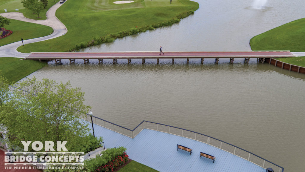Heritage Shores Golf Cart Bridge - Bridgeville, DE | York Bridge Concepts - Timber Bridge Builders