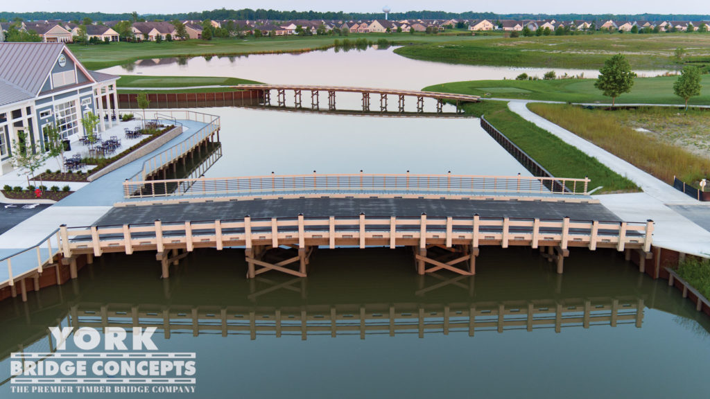 Heritage Shores Vehicular Bridge - Bridgeville, DE | York Bridge Concepts - Timber Bridge Builders