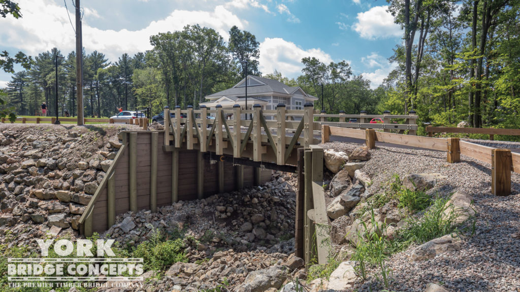 Winchester CC Vehicular Bridge - Winchester, MA | York Bridge Concepts - Timber Bridge Builders