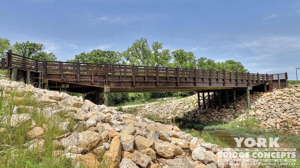 Loch Lloyd Vehicular Bridge - Cass County, MO | York Bridge Concepts - Timber Bridge Builders