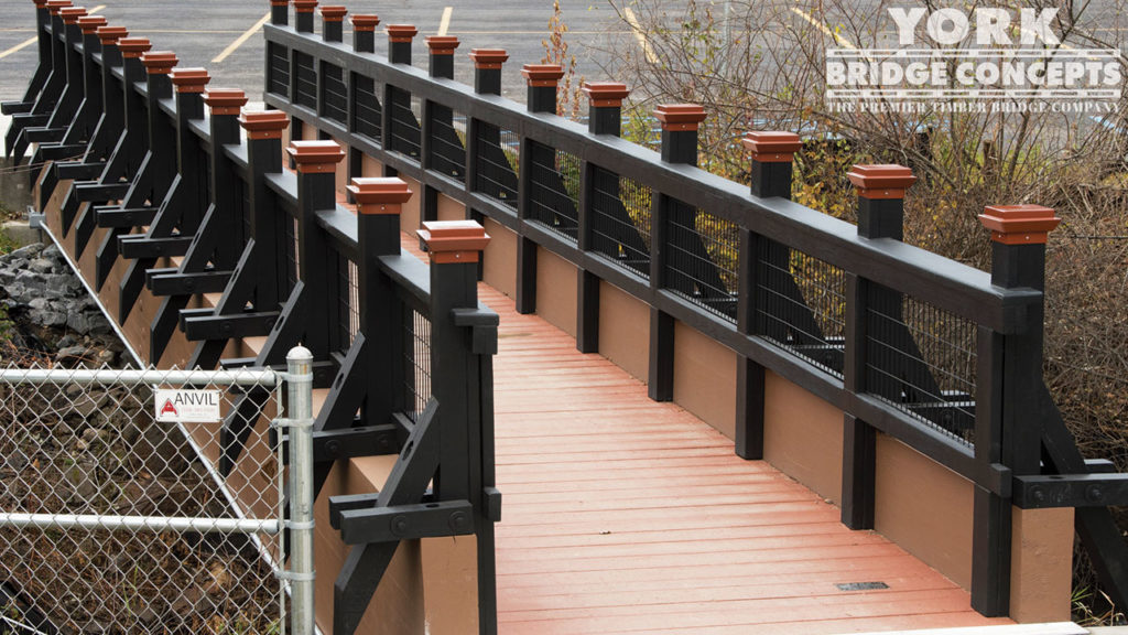 Voorheesville Pedestrian Bridge - Voorheesville, NY | York Bridge Concepts - Timber Bridge Builders