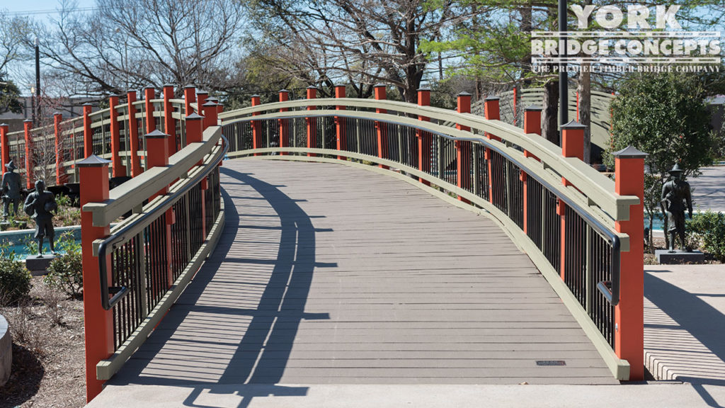 Hilton Anatole Resort Pedestrian Bridges - Dallas, TX | York Bridge Concepts - Timber Bridge Builders