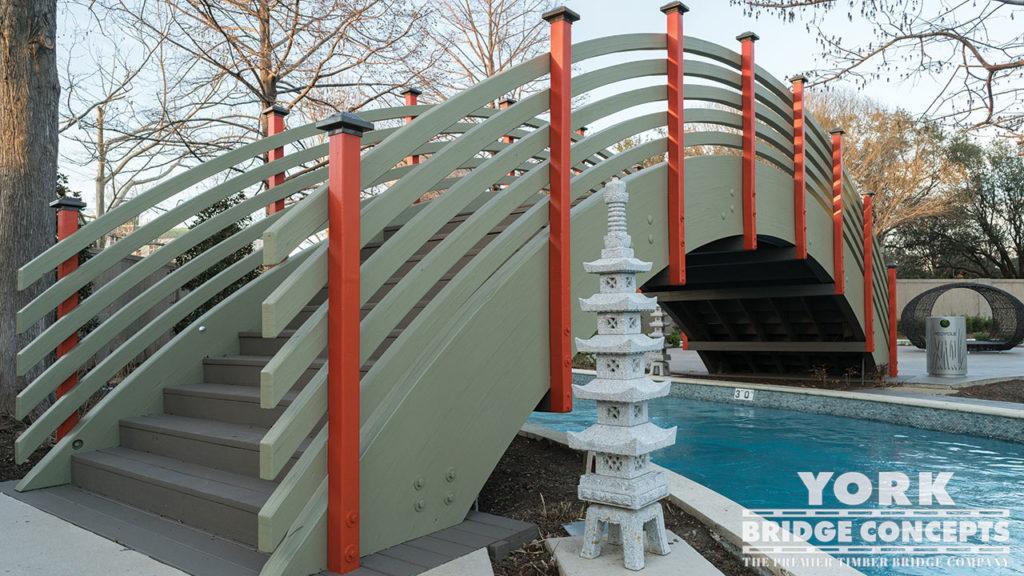 Hilton Anatole Resort Pedestrian Bridges - Dallas, TX | York Bridge Concepts - Timber Bridge Builders